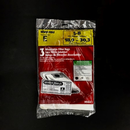 Sacs Aspirateur Shop Vac Type E Pqt3 #12626 $14,98