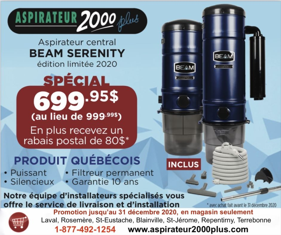 Promotion Aspirateur Central Beam Serenity